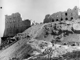 Workmen Clearing Rubble from Ruins of 6th Century Monte Cassino between Allies and Germans in WWII