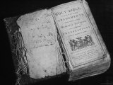 Tattered Old Bible  Printed in English and Published in Philadelphia  at the Gilcrease Museum