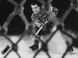 Hockey: Montreal Canadians Bernard Boom Boom Geoffrion Alone  Shooting