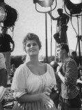 Actress Sophia Loren During Break on Movie Set