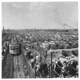 Ford Workers Leaving the Ford Motor Company's River Rouge Plant