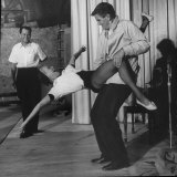 Entertainer Eleanor Powell Rehearsing with Peter Ford for Her Comeback Performance