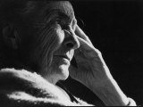 Pensive Portrait of Artist Georgia O'Keeffe