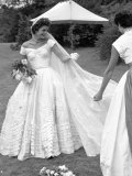 Socialite Jacqueline Bouvier on Day of Her Marriage to Sen John Kennedy