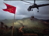 US 1st Air Cavalry Skycrane Helicopter Delivering Ammunition and Supplies to Besieged Marines