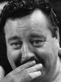 Actor Jackie Gleason Hiding His Mustache
