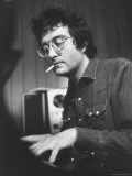 Composer Randy Newman Working at Piano  Smoking Cigarette