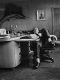 James R Hoffa Slumped in Chair Teamsters Office