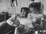 Entertainer Dean Martin Rehearsing a Scene with Actress Shirley MacLaine
