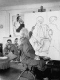 Painter Alice Neel in Her Studio