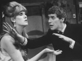 "Actor Michael Crawford and Actress Lynn Redgrave in the Play  ""Black Comedy"""