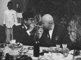 Nikita Khrushchev with Pres Sukarno