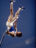 East Germany&#39;s Wolfgang Nordwig in Action During Pole Vaulting Event at the Summer Olympics