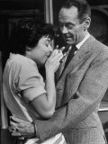"Actors Anne Bancroft and Henry Fonda in Scene From Broadway Play ""Two for the Seesaw"""