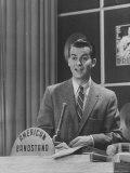 Master of Ceremonies  Dick Clark Presiding over the Teenage Jazz Show