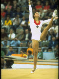 US Gymnast Ludmila Turishcheva Performing a Floor Exercise During the Summer Olympics