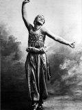 """Russian Ballet Dancer Vaslav Nijinsky Photographed in Character for Ballet """"Scheherazade"""""""