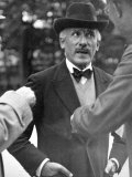 Famous Maestro Arturo Toscanini Stopping in Street and Talking to 2 Men