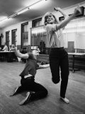 "Actress Melina Mercouri Practicing a Dance Number for the Play ""Illya Darling"""