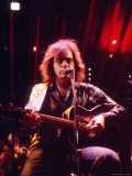 Singer Neil Diamond Playing Guitar