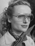 Actress Carol Lombard Wearing Sunglasses for Skeet Shooting at Gun Club