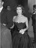 "Bianca Jagger at the Opening of Metropolitan Museum Costume Exhibit ""The 18th Century Woman"""