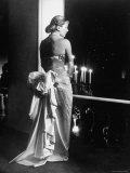 Mme Jacques Fath Wearing Dress Designed by Her Husband for Their American Tour