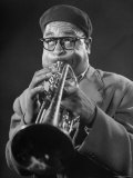 "King of Bebop Trumpeters Dizzy Gillespie Playing ""Cool"" Jazz Tune During Jam Session"