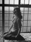 Actress Peggy Cummins Looking Out of a Window