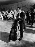 Actress Joanne Woodward Dances with Paul Newman at the 1st Governor's Ball  Beverly Hilton Hotel