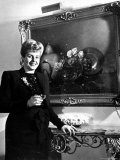 Evita Peron  Wife of Argentinean Presidential Candidate With a Glass of Champagne in Her Apartment