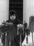 Singer Marian Anderson Conducting a Voice Test Prior to Concert on Steps of the Lincoln Memorial