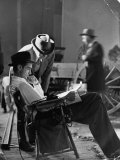 """Millionaire Howard Hughes/Movie Studio Owner Studying Script on the Movie Set for """"The Outlaw"""""""