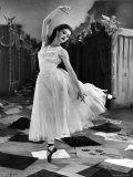 "Ballet Dancer Moira Shearer's Solo Dance in Scene from British Ballet Film ""Red Shoes"""