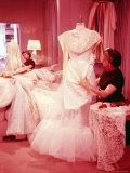 MGM Designer Helen Rose Working on Grace Kelly's Wedding Dress