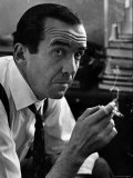 Broadcast Journalist Edward R Murrow Smoking Cigarette