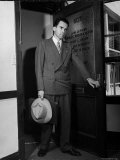 Attorney Richard Nixon in the Doorway of Law Office After Returning From WWII to Resume His Career