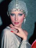 Actress Morgan Fairchild Wearing Mesh Hat
