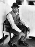 Portrait of German Artist Joseph Beuys at the Guggenheim Museum