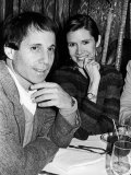 Paul Simon with Girlfriend  Carrie Fisher  at Party for Fisher's Dad  Singer Eddie Fisher