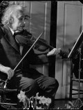Physicist Dr Albert Einstein Practicing His Beloved Violin