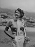 Actress Rita Hayworth Outside Casino