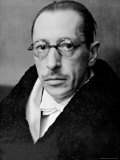 Russian Composer Igor Stravinsky  Wearing Tux  White Tie and Overcoat  on Night of a Performance