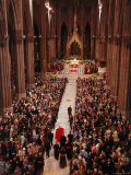 Pope Paul VI Entering Saint Patrick's Cathedral Receive Official Welcome to Archdiocese of New York