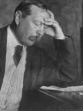 Photo by E O Hoppe of Author Sir Arthur Conan Doyle Seated  Eyes Downcast  in Reflective Pose