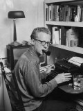 New York Post Columnist Murray Kempton Working at Home