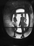 Silhouetted Ballerinas During Rehearsal for Swan Lake at Grand Opera de Paris