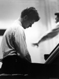 Van Cliburn  at Piano Rehearsing for Tchaikovsky Competition  Carnegie Hall