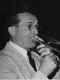 Musician Tommy Dorsey Playing His Trombone