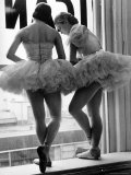 Ballerinas on Window Sill in Rehearsal Room at George Balanchine&#39;s School of American Ballet